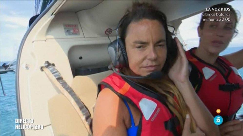 Foto: Leticia Sabater protagoniza el peor salto del helicóptero en 'Supervivientes'.