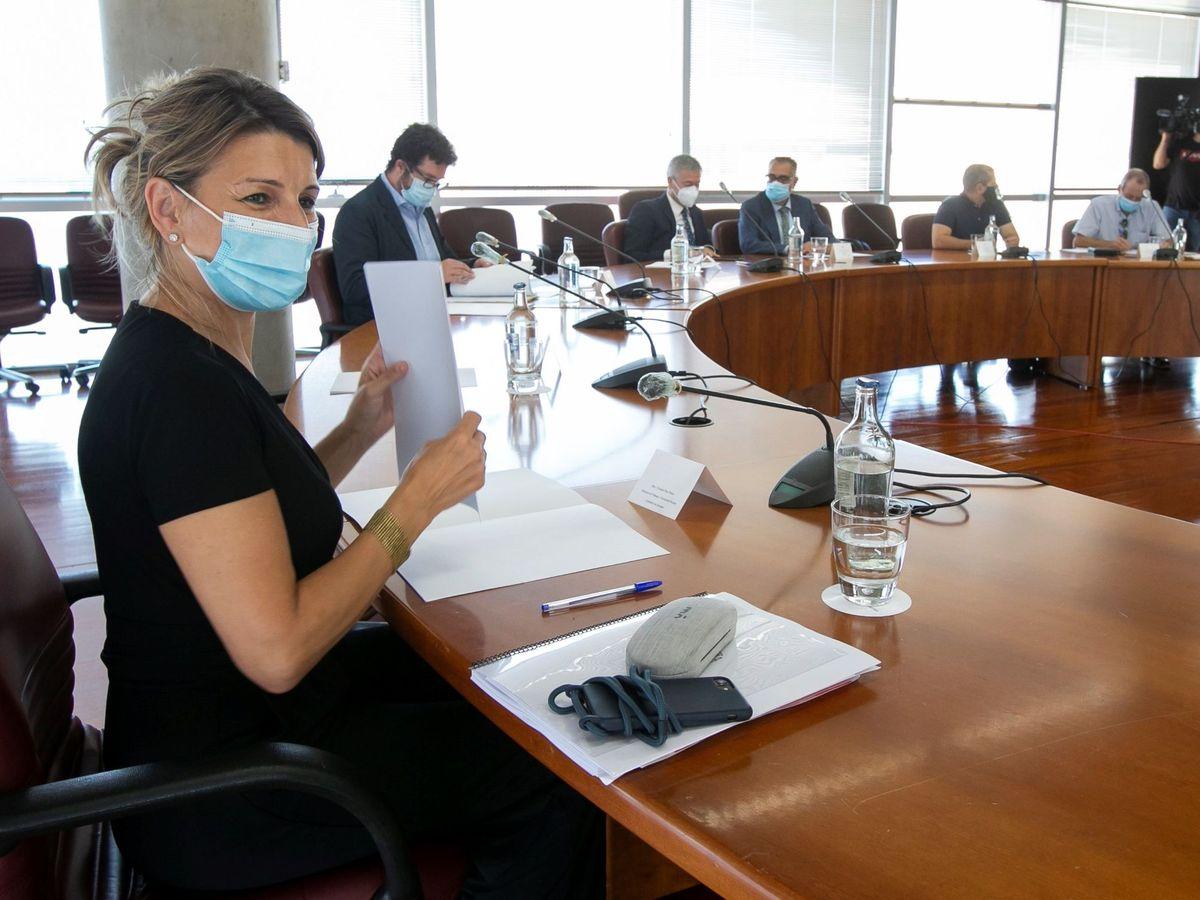 Foto:  La ministra de Trabajo, Yolanda Díaz (EFE)