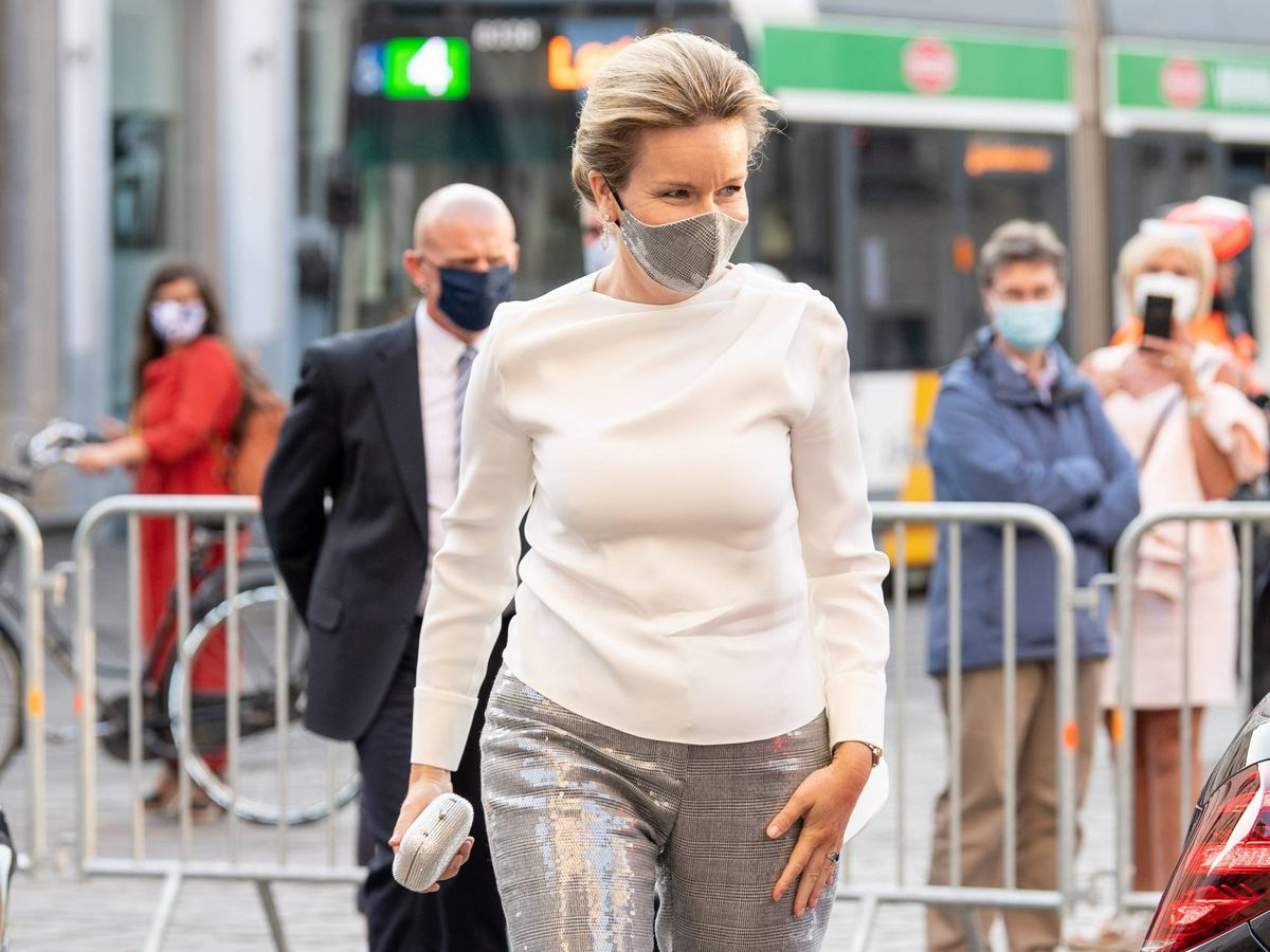 Foto: Matilde de Bélgica y su nuevo look. (Cordon Press)