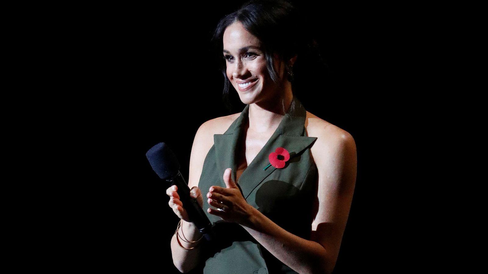 Foto: La duquesa, durante la gala final de los Invictus.(REUTERS)