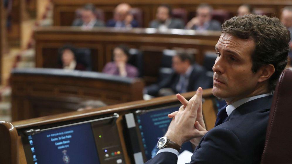 Foto: El presidente del Partido Popular, Pablo Casado, en el Congreso. (EFE)