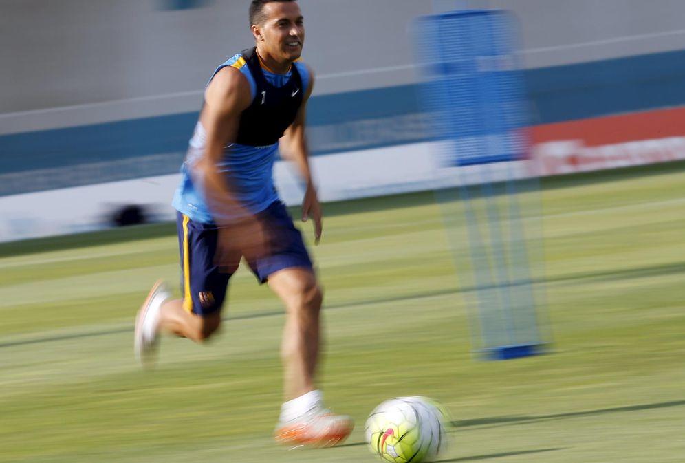 Foto: Pedro en un entrenamiento con el Barcelona (Reuters).