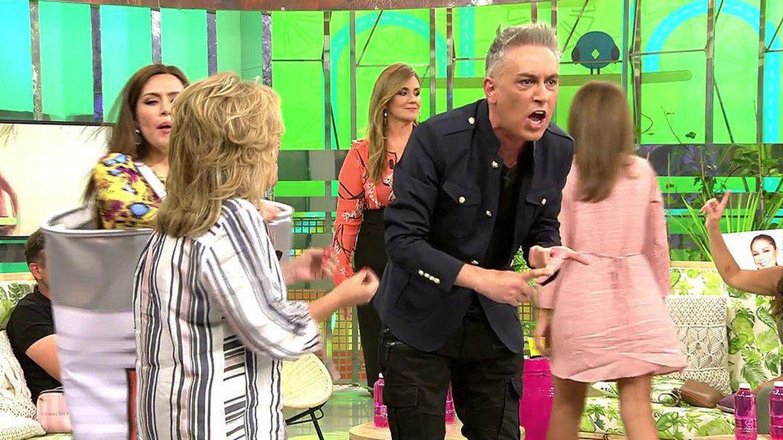 Kiko Hernández gritando en 'Sálvame'. (Mediaset España)