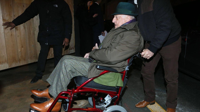 Pierre Bergé en su última imagen pública en febrero de este año. (Gtres)