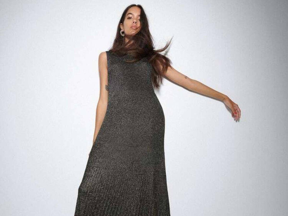 Foto: El vestido de punto de Zara. (Cortesía)