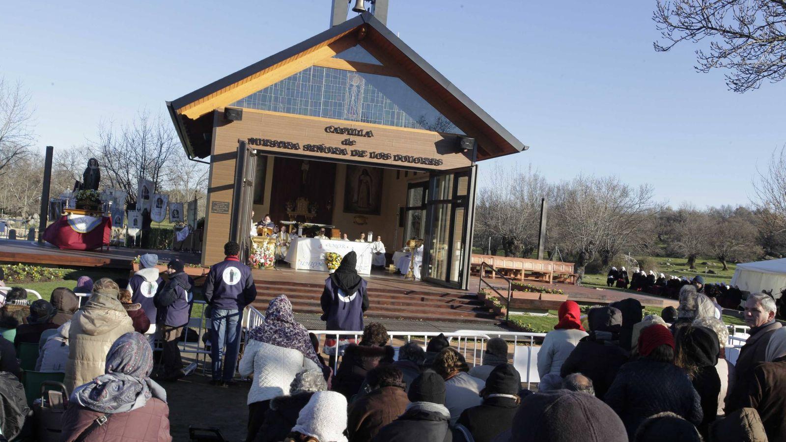 Foto: La capilla construida en la finca Prado Nuevo, donde está el sarcófago de la vidente. (E. Villarino)