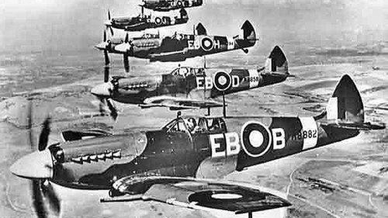 Una escuadrilla de Spitfires. (This Island Wiki)