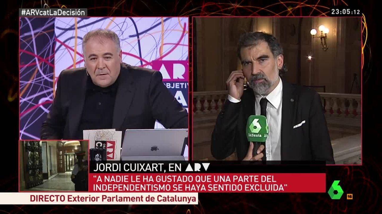 Antonio G. Ferreras habla con Jordi Cuixart en el especial nocturno de 'ARV'.