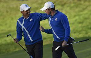 McIlroy y Sergio García aparecen a tiempo para que Europa mande