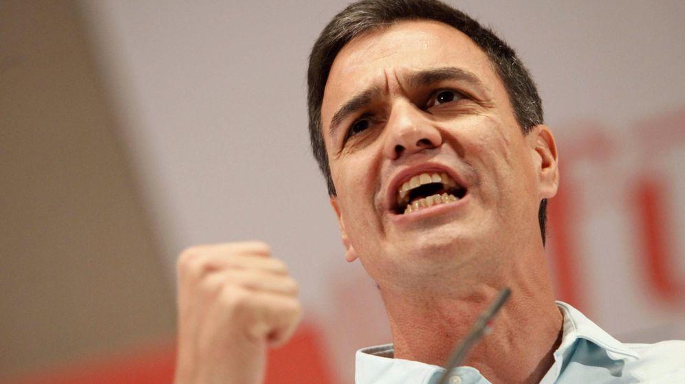 Foto: El secretario general del PSOE y candidato a la Presidencia del Gobierno, Pedro Sánchez, durante un mitin. (EFE)