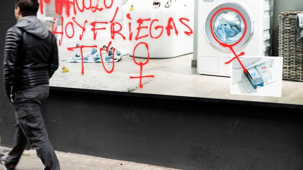 Foto: Pintada en una calle. (EFE)