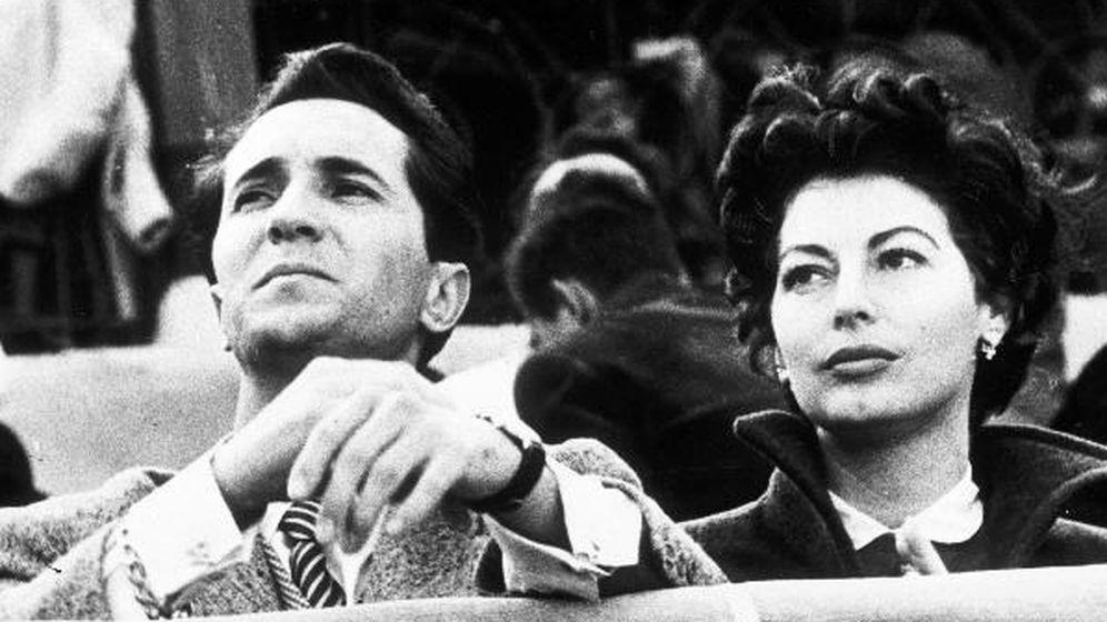 Foto: Luis Miguel Dominguín y Ava Gardner, en una imagen de archivo.