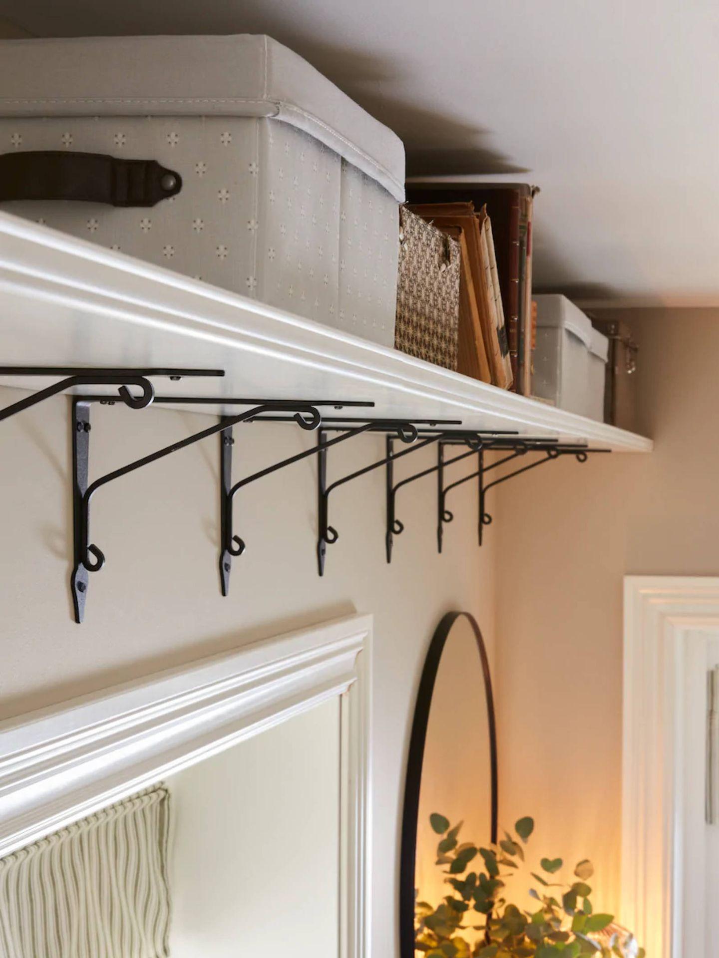Soluciones de decoración de Ikea para una entrada pequeña. (Cortesía)