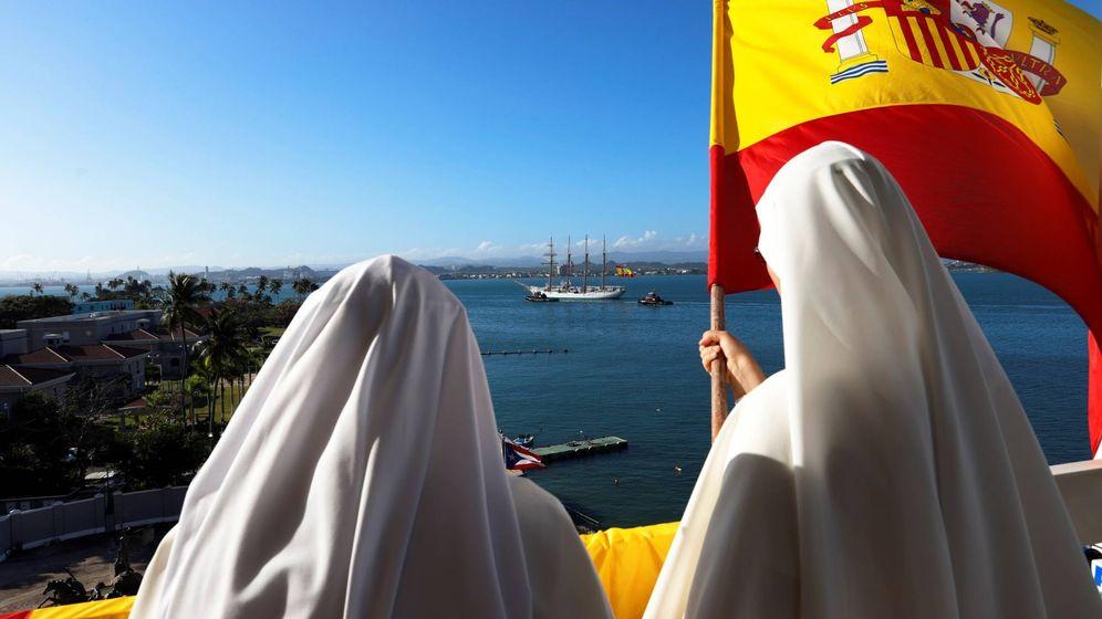 Foto: El buque-escuela de la Armada española Elcano llega a Puerto Rico. (EFE/Thais Llorca)