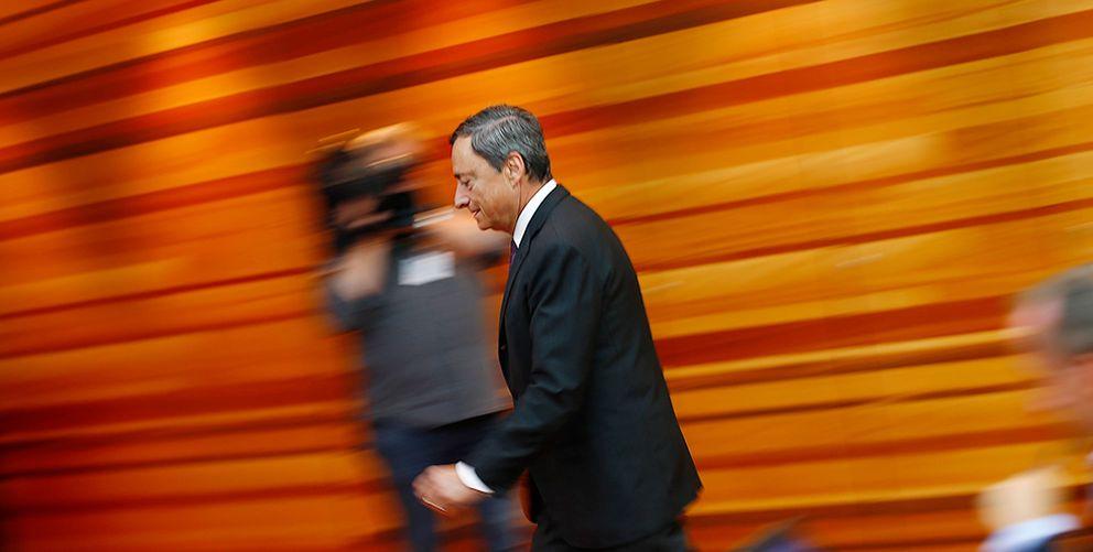 Foto: Mario Draghi en una de sus intervenciones en el BCE. (Reuters)