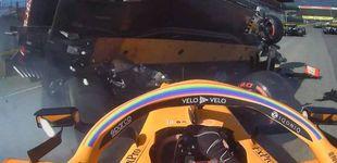 Post de La desagradable sensación de Carlos Sainz al encontrarse delante a un rival a 270km/h