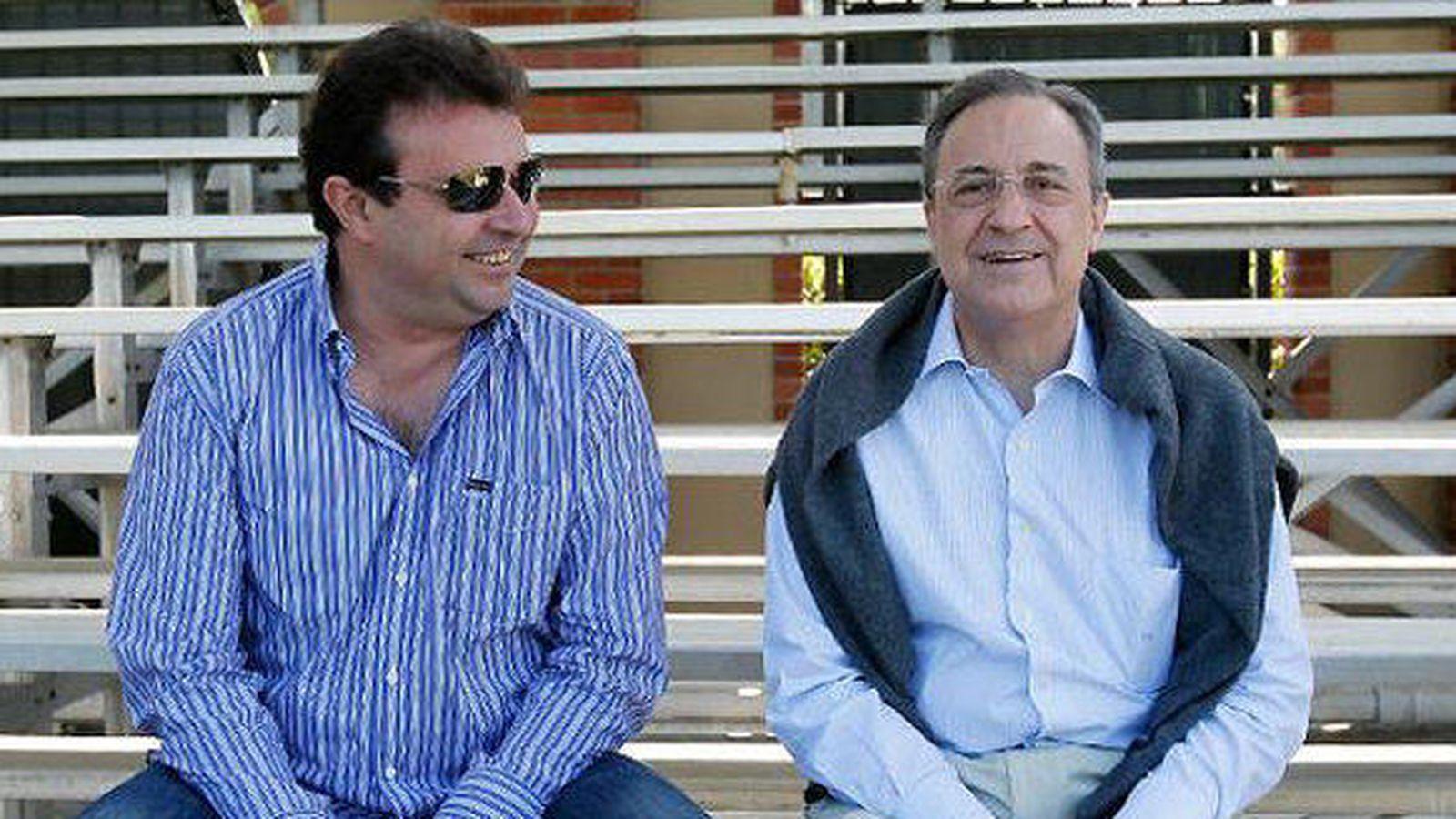 Foto: José Ángel Sánchez, director general del Real Madrid, con su presidente, Florentino Pérez