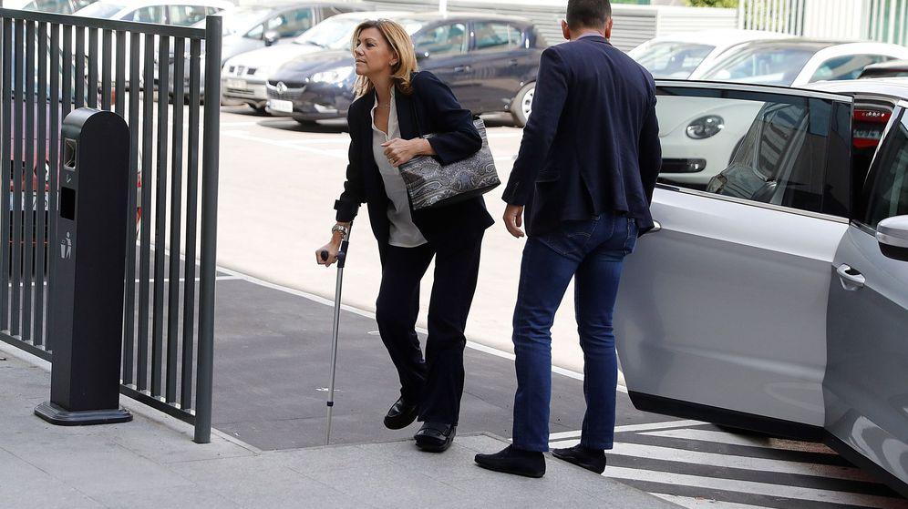 Foto: La exsecretaria general del partido María Dolores de Cospedal a su llegada este jueves a los Juzgados de lo Penal de Madrid. (EFE)