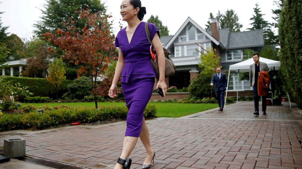 Foto: Meng Wanzhou, en su residencia de Canadá. (Reuters)