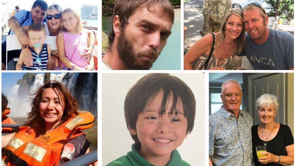 Foto: Algunas de las 16 víctimas de los atentados de Barcelona y Cambrils del 17 de agosto de 2017