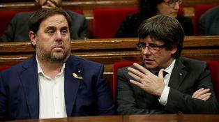 El duelo entre Puigdemont y Junqueras y el trilema independentista