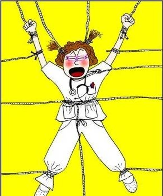 Foto: Uno de los dibujos que publica la doctora Lalanda en su blog.