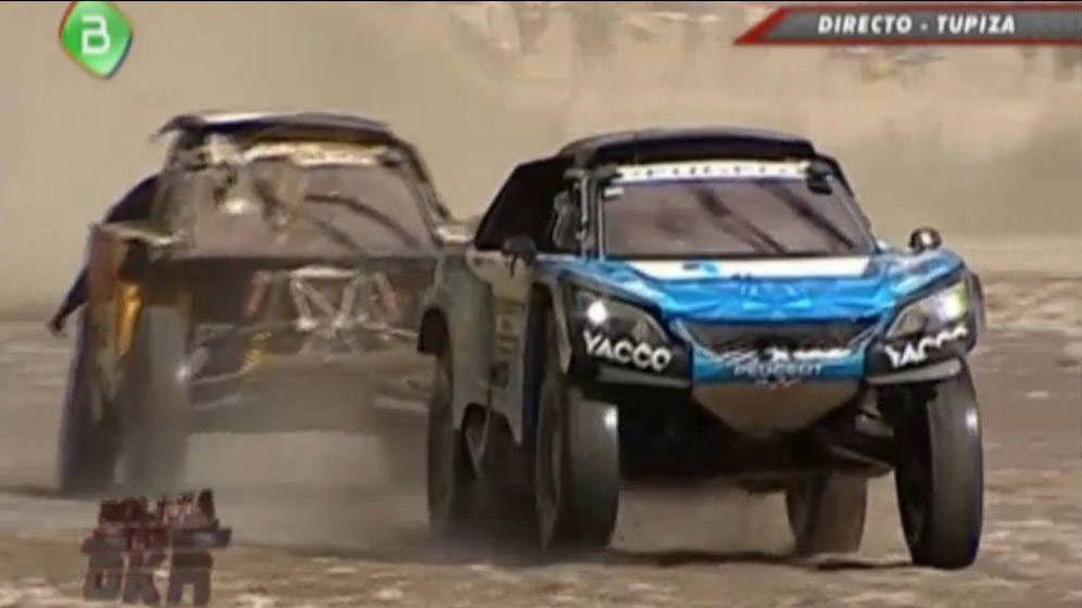 Foto: Accidente de Carlos Sainz por un barranco en el Dakar