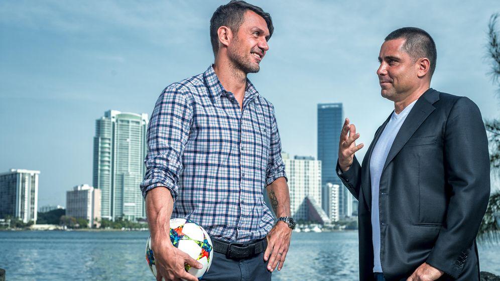 Foto: Paolo Maldini y Riccardo Silva, propietarios del Miami FC.