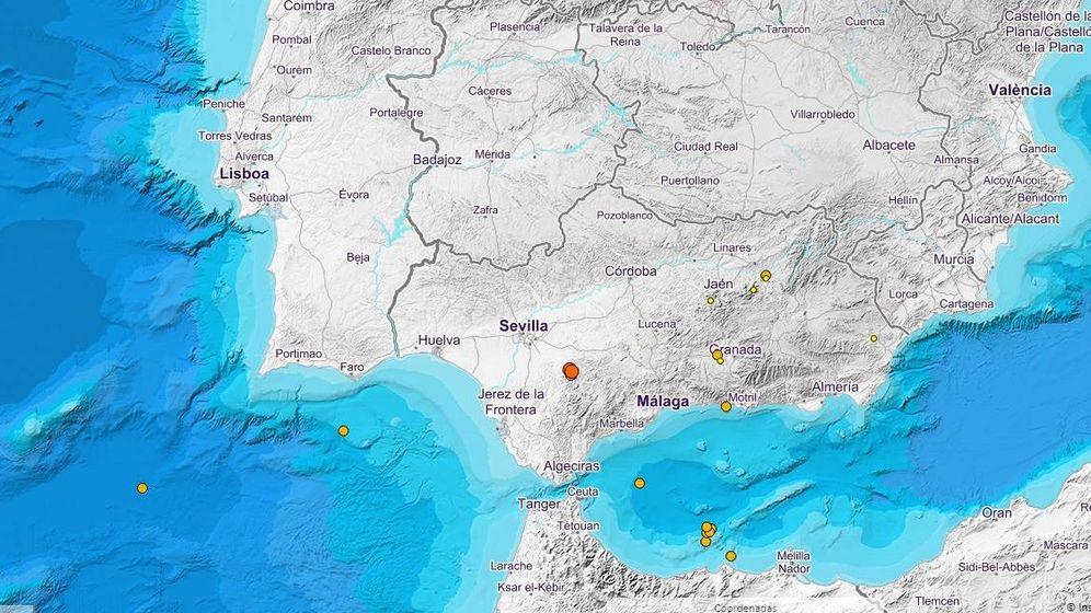 Foto: Últimos terremotos registrados por el Instituto Geográfico Nacional (IGN).