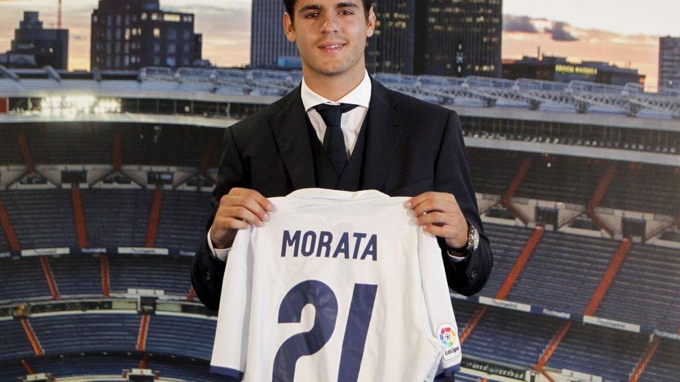 Morata llora en su presentación como nuevo fichaje galáctico del Real Madrid