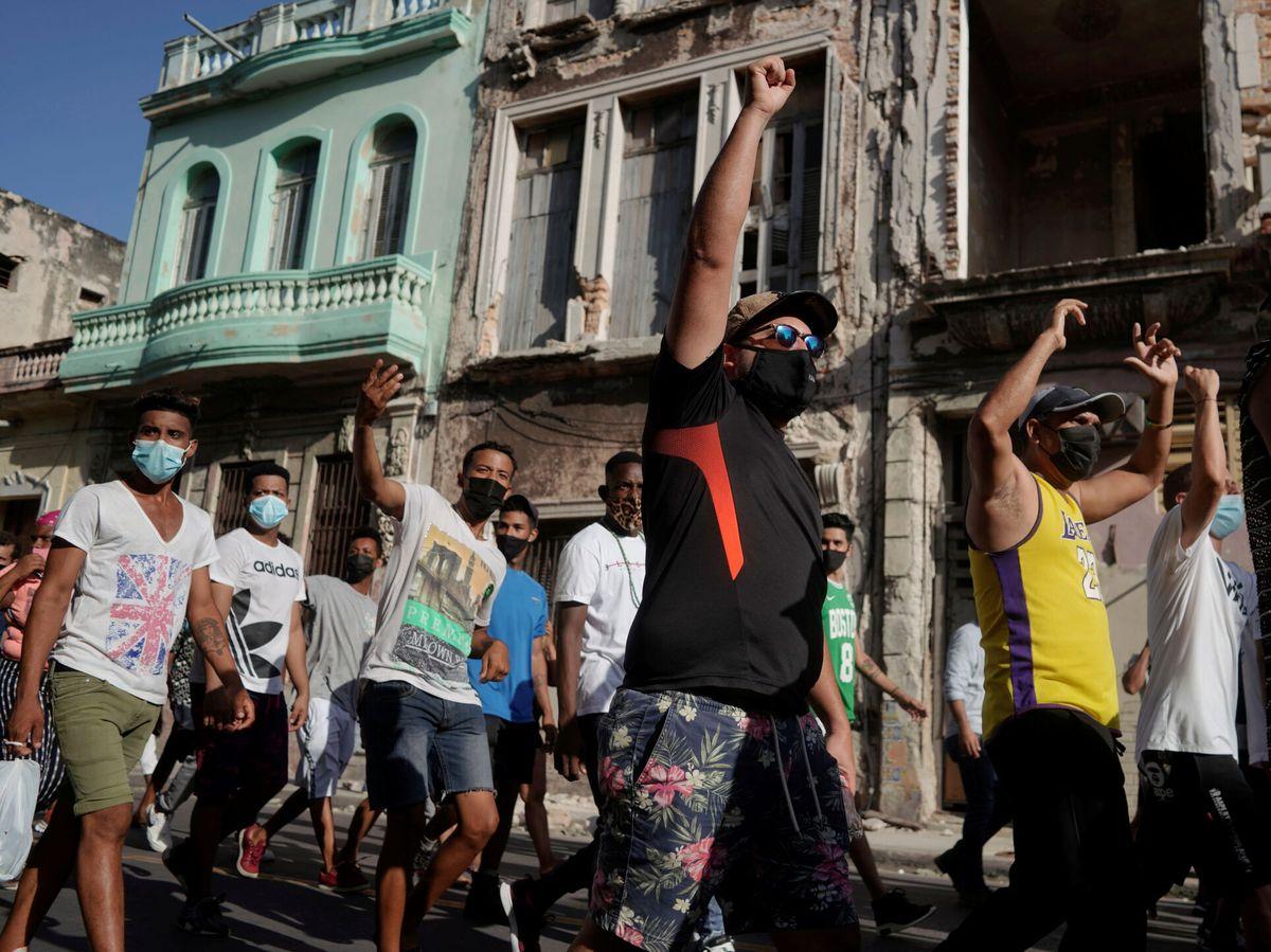 Foto: Manifestación en La Habana. (Reuters)