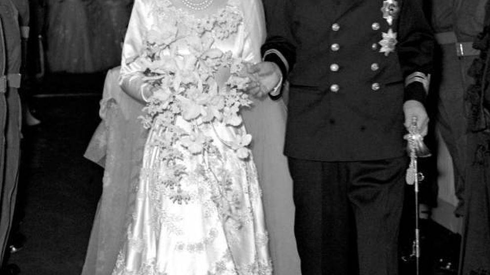 Isabel II y el percance con su tiara ('algo prestado') en su boda, a dos horas del enlace