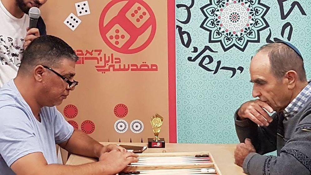 Foto: Imagen de un reciente torneo de backgammon en Jerusalén