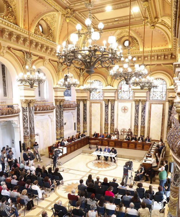 Foto: Vista general del pleno de constitución del Ayuntamiento de San Sebastián. (EFE)