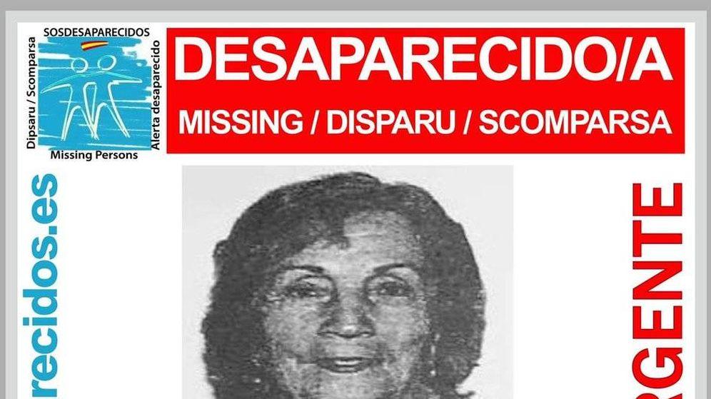 Foto: Cartel con la foto de Carmen, que estaba desaparecida. Finalmente es una de las 14 víctimas.
