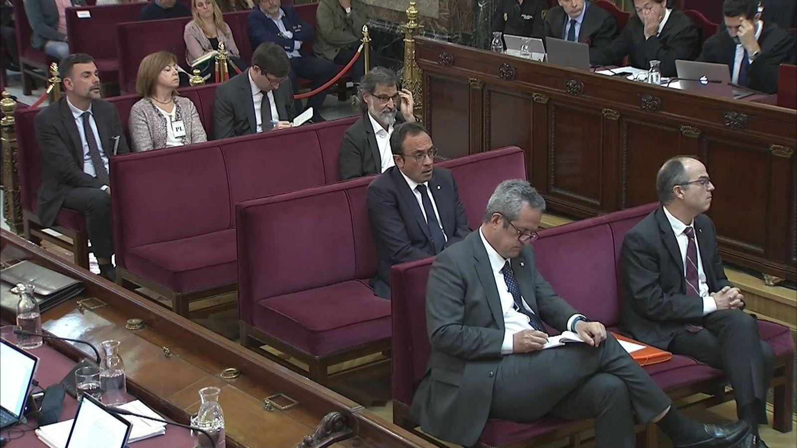 """Foto: El juicio del """"procés"""" en el Tribunal Supremo. (EFE)"""