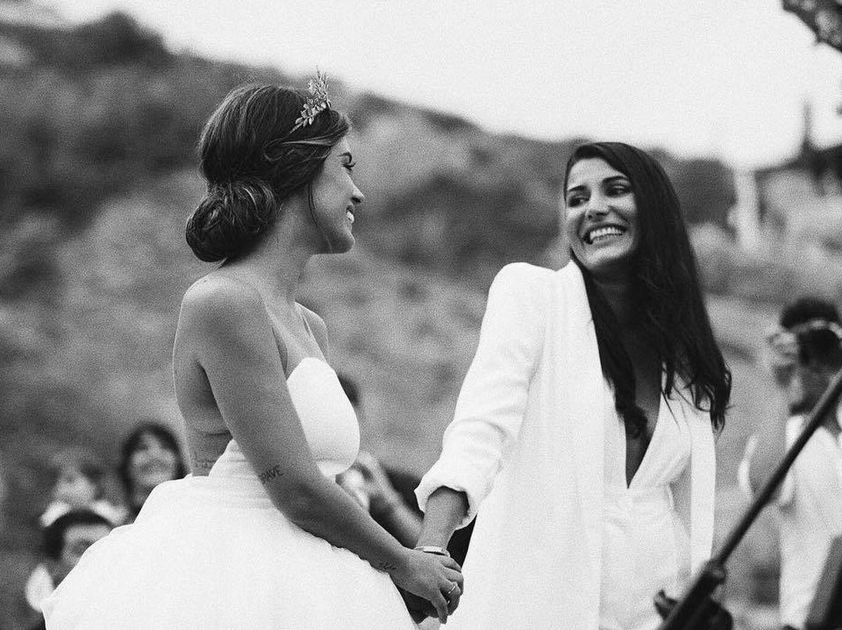 Foto: Dulceida y Alba, el día de su boda. (Redes)