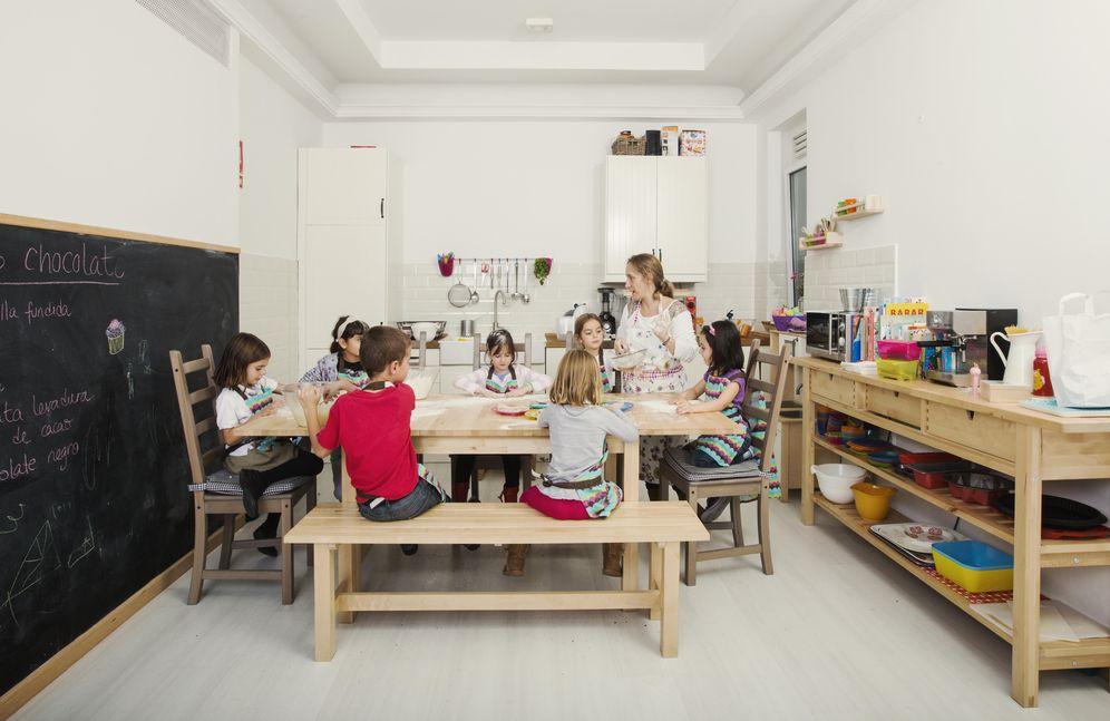 Foto: Mamá Campo tiene una cocinita de verdad para que los niños metan las manos en la masa