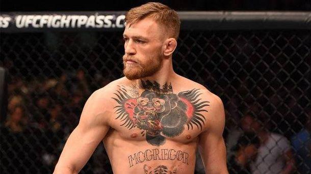Foto: McGregor en un combate de la UFC. (Foto: @TheNotoriousMMA)