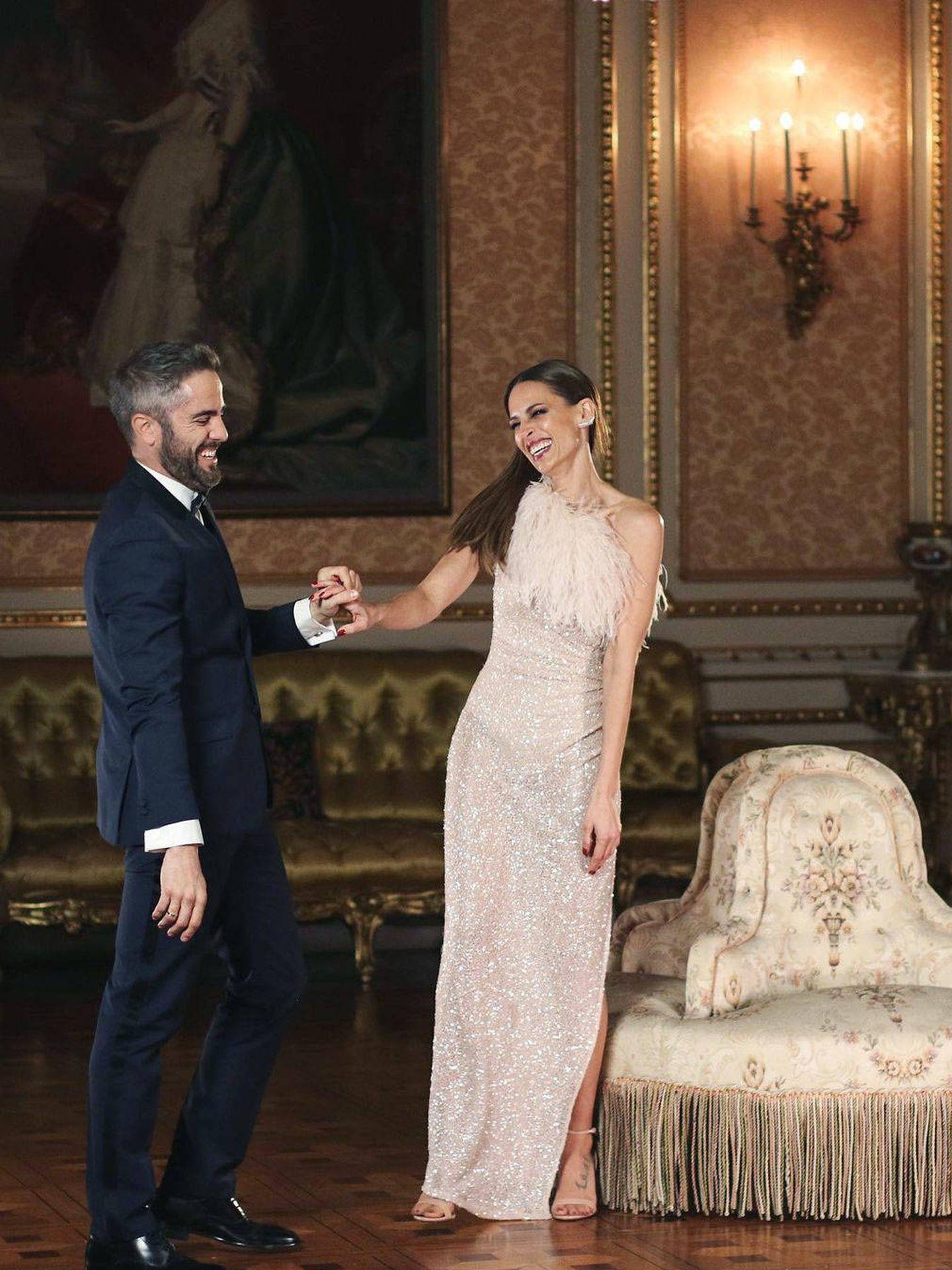 Eva y Roberto en otro de los salones de Liria. (Redes)