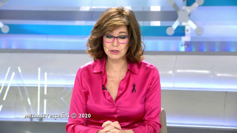 Foto: Ana Rosa Quintana, con su look estrella. (Mediaset)