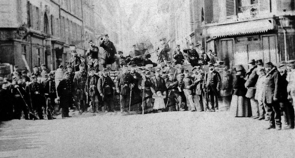 Foto: Barricada en la calle Saint-Sébastien (CC)
