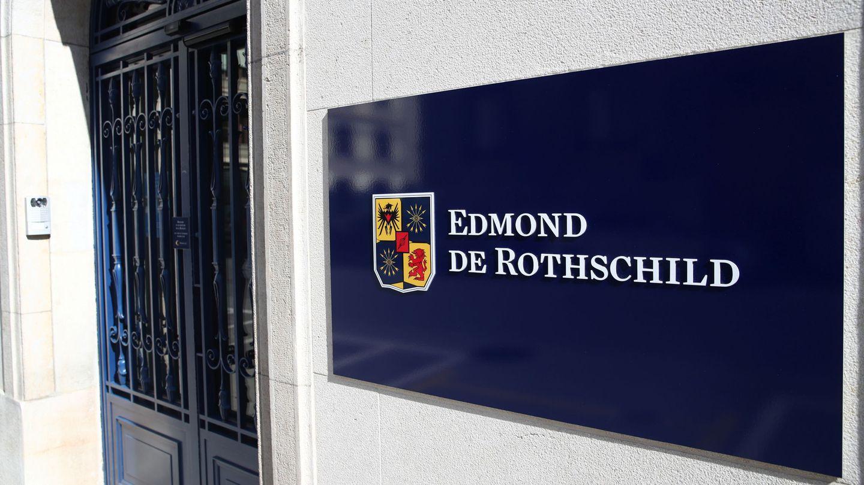 El logo del banco Edmond de Rothschild, en Ginebra. (Reuters)