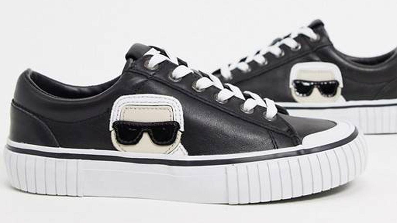 Zapatillas de Karl Lagerfeld de venta en Asos. (Cortesía)