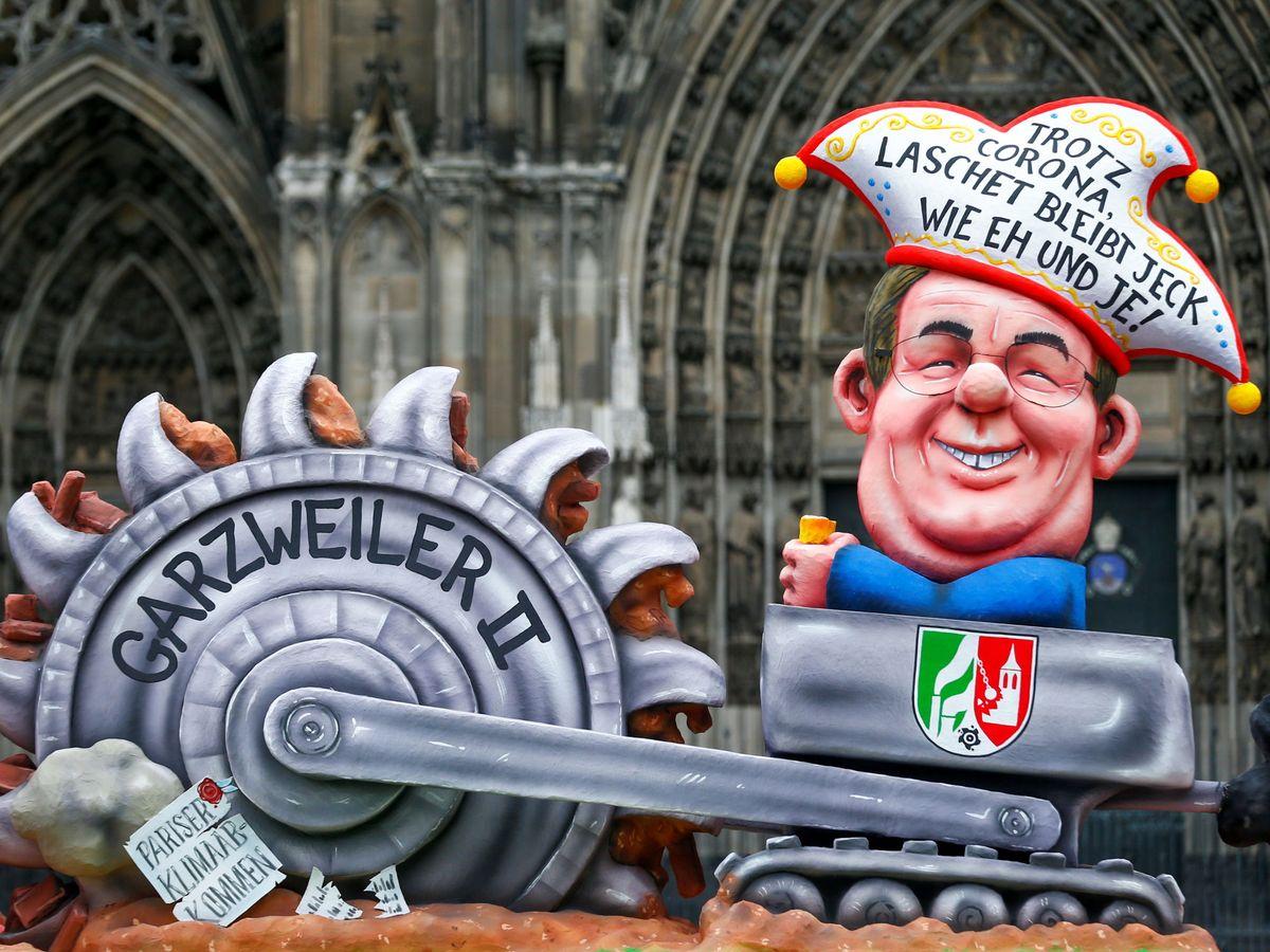 Foto: Estatua de carnaval del actual líder de la CDU alemana, Armin Laschet. (Reuters)