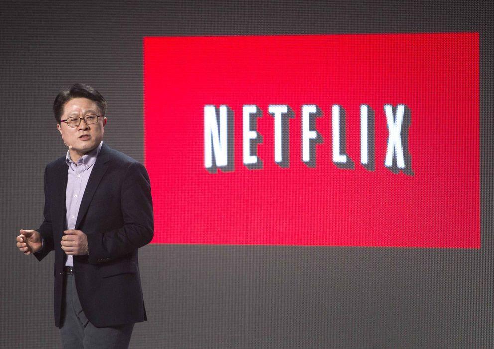 Foto: Skott Ahn, presidente de LG y socio de Netflix (Reuters)