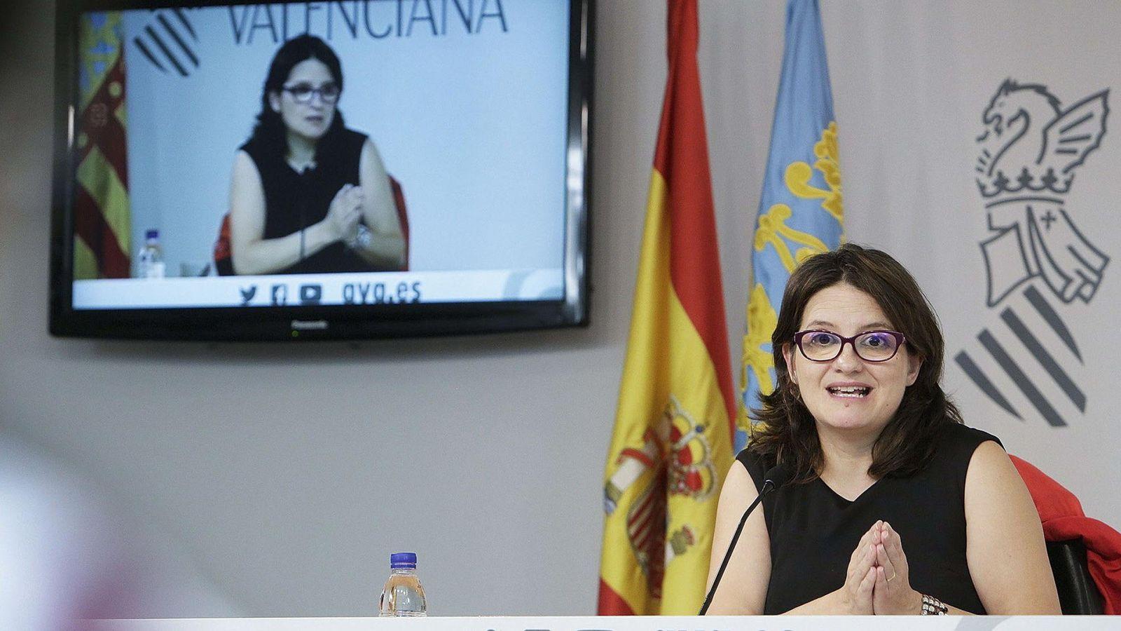 Foto: Fotografía cedida por la Generalitat de la Vicepresidenta y Portavoz del Gobierno Valenciano, Mónica Oltra. (EFE)