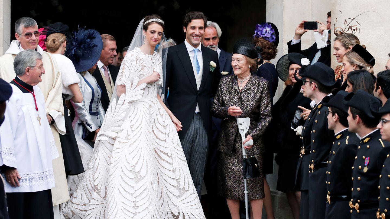 Jean-Christophe Napoleón y Olympia en su boda, en 2019. (Reuters)