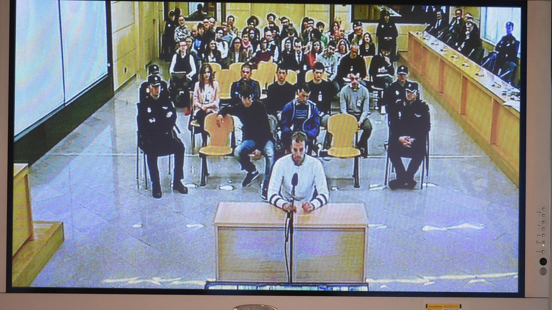 Sesión del juicio de ayer. (EFE)