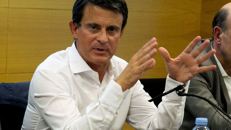 Manuel Valls, en un acto en Zaragoza. (EFE)